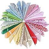 AONER 30 Stück 5 Farbsystem Patchwork Stoffe 100% Baumwolle Bunte