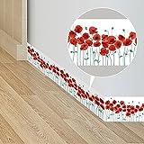 Frolahouse Selbstklebende Mohnblumen Tapete Border Roll Wasserdicht Einfach Installieren Wandkunst Aufkleber Für Waschtisch Küche Schlafzimmer Studie Flur Eingang Glastür 10x200 cm