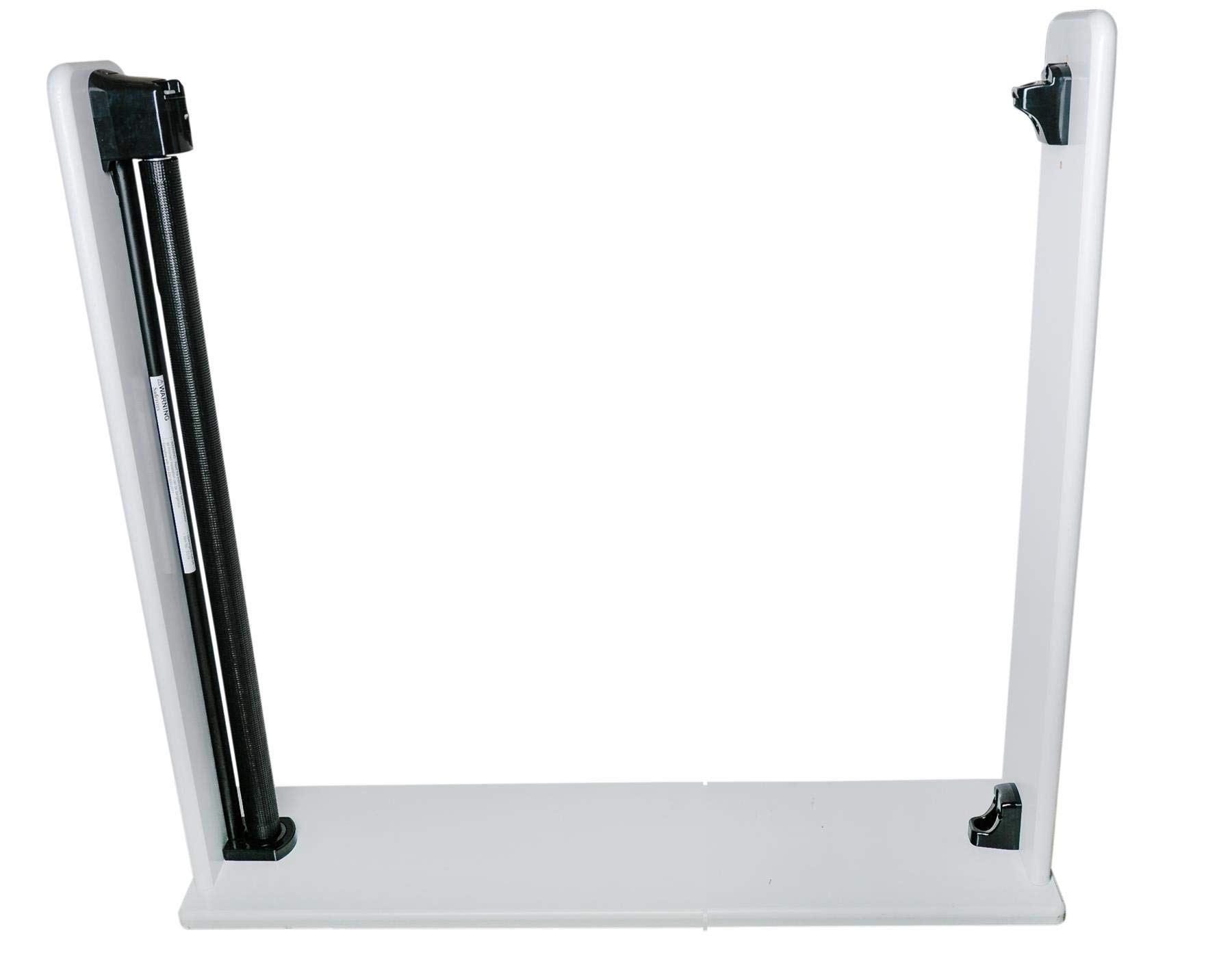 Safetots Extra Tall and Wide Advanced Retractable XL (Black) Safetots Adjusts to fit openings from 20cm-140cm 95cm in Height, the tallest Safety Tested Retractable Gate on the market Screw fit, mesh barrier with steel frame 3