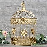 farolillos voladores Jaula dorada decoración bodas. 25x15cm.