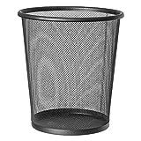 EUROXANTY cestino per la carta | 28 x 26 cm | Pattumiera nera circolare | In rete | Griglia metallica | 12 L