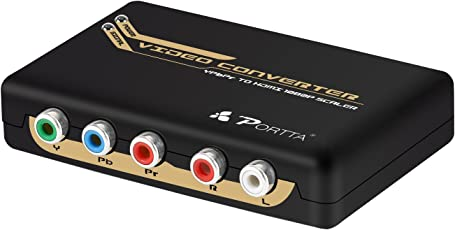 Portta PETRHP V1.3 Component RGB Plus R/L to HDMI Converter Support 1080p for DVD PS3 - NotforWindows10