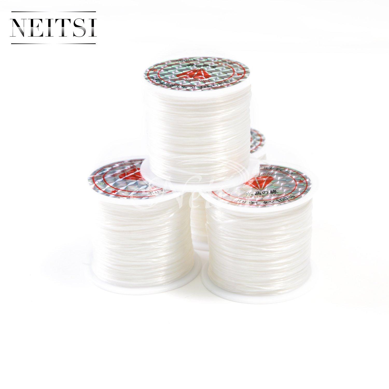 Neitsi���1�Rotolo cristallo linea gioielli perline bobina di filo elastico cristallo String corda