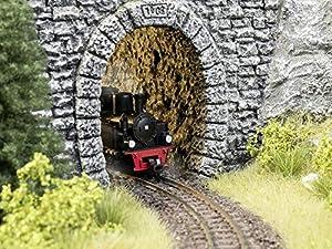 NOCH 58033 - Túnel de Pared para Interior de Rock, 2 Piezas, 9,5 cm de Largo, Color Plateado