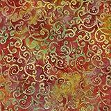 Fabric Freedom Rost Wellen Design 100% Baumwolle Bali Batik tie dye Muster Stoff für Patchwork, Quilten &,–(Preis pro/Quarter Meter)