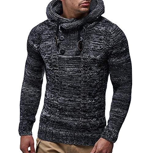 DEELIN Herren Herbst Winter Pullover Strickjacke Mantel mit Kapuze Pullover Jacke Outwear