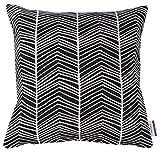 TOM TAILOR 564326 T-Sporatic Kissenhülle, Polyester-Baumwolle, schwarz/weiß, 45 x 45 x 1 cm
