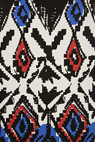 Roman Originals - Robe Maxi Longue Motif Tribal Aztèque Sans Manches Casual Décontracté Vacances d'Été - Tailles 38-50 - Multicolore Noir