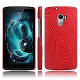 Lenovo Vibe X3 Lite Hülle, CHENXI Slim Krokodil Textur Hard PC Schutzhülle Abdeckung Schutz Handy Case für Lenovo Vibe X3 Lite Rot
