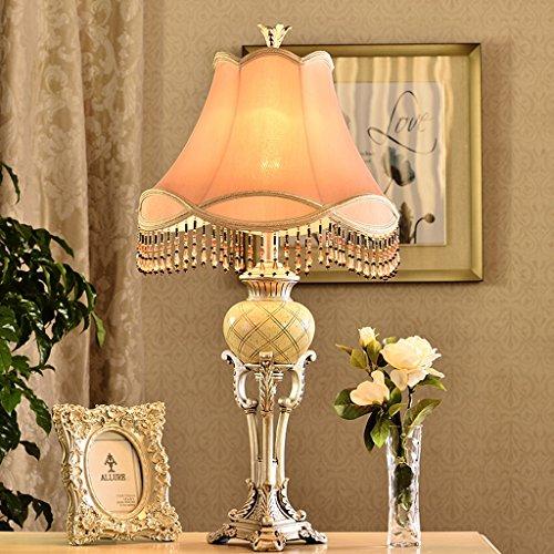 Cjh lampada da salotto europea retrò lampada da tavolo classica lampada da comodino in resina