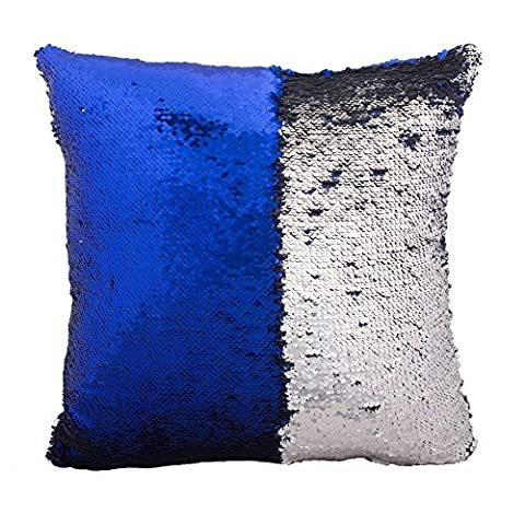 Fengheshun Reversible Sequins Pillowcase Mermaid Pillow Covers 40×40 cm Two