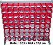 Dresselhaus 8909 Lagerboxenregal 72-fach bestückt mit DIN- und Normteilen
