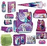 Disney die Eiskönigin Schulranzen Set 21tlg. Sporttasche, Schultüte 85cm, Regen/Sicherheitshülle von Familando PL14 Frozen
