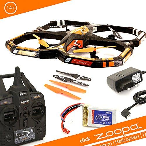 Preisvergleich Produktbild ACME - zoopa Q 650 razor Quadro - genial für Draussen 2,4GHz | Licht zu schaltbar | 360° Flip | 3 Geschwindigkeiten | 150m Reichweite (ZQ0660)