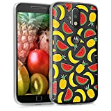 kwmobile Motorola Moto G4 / Moto G4 Plus Hülle - Handyhülle für Motorola Moto G4 / Moto G4 Plus - Handy Case in Gelb Rot Transparent