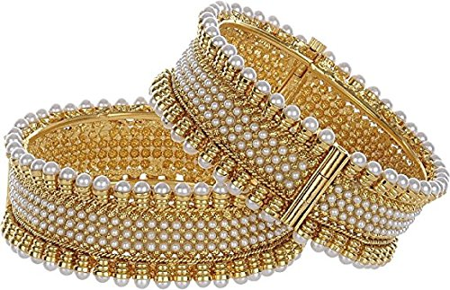 Quail Alloy Traditional Temple Coin Gold plated bangles for Women & Girls