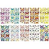 Ideen mit Herz Glimmer-Relief-Sticker, Schmetterlinge, 11,5x20cm, 10 Stück | Aufkleber, Sticker, Dekoration | Frühling, Sommer