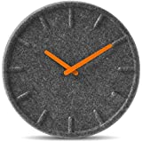 wall clock felt35 orange hands by LEFF amsterdam