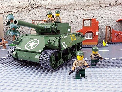 Modbrix 2475 - ★ US ARMY Jagdpanzer M-10 Wolverine Panzer inkl. custom US Army Soldaten aus original Lego© Teilen ★ thumbnail