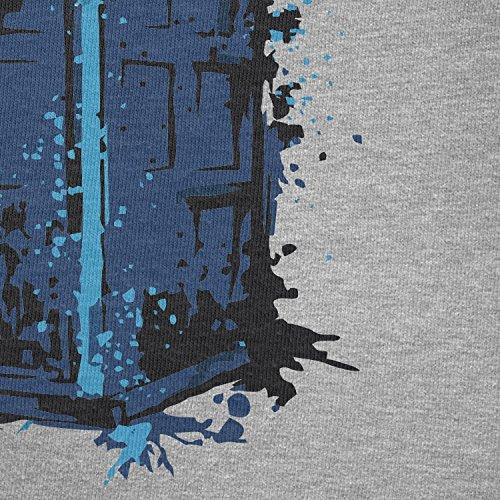 NERDO - Police Box Splash - Damen T-Shirt Grau Meliert