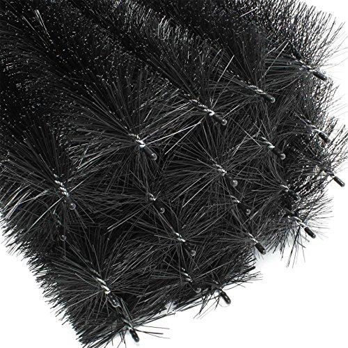 24m Dachrinnenbürste 120 cm Ø 10,5 cm Laubschutz Marderschutz 20 Stück