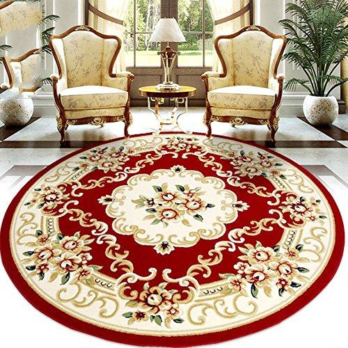 CAICOLORFUL MUMA Europäischen Und Amerikanischen Stil Runde Teppich  Schaukelstuhl Pad Schlafzimmer Wohnzimmer Diameter160 Cm Innen Teppich (  Farbe : 1 )