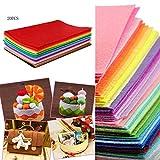 LinQ 20x Filzplatten bunt 20 Farben Bastelfilz je Filzplatte 400x600x 2 mm