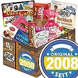 Original seit 2008 | DDR Korb | DDR Suessigkeiten-Box mit Puffreis-Schokolade, Liebesperlenfläschchen, Othello Keks Wikana uvm.