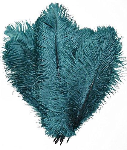 melady Pack von 50Natur Strauß Federn 40,6-45,7cm (40~ 45cm) für Home Hochzeit Party Dekoration blaugrün (Dekorationen Party Teal)
