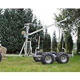 ATV Holzanhänger TR04 mit Kran und Winde Quad Anhänger Hänger Quadhänger