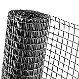 KUNSTSTOFFZAUN 0,5m Höhe Masche 40mm Geflügelzaun in anthrazit (Meterware)