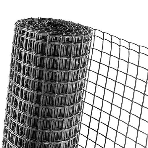 Haga® Clôture Jardin Clôture Supports 0,5 m Hauteur plantes Maille 40 mm Noir (au mètre)