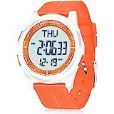 WIFORT Orologio Digitale da Polso, Orologio Sportivo Uomo Donna Impermeabile 5ATM Con Retroilluminazione a LED, Cronometro, S