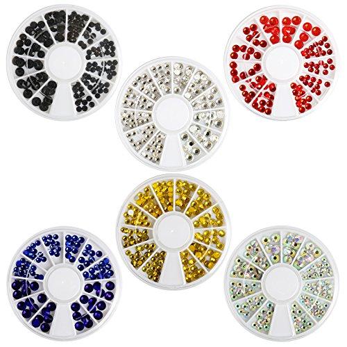 Naler Strasssteine Kristall Edelsteine Nagelschmuck 6 Farbe 0,5mm - 2 mm