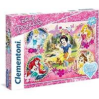 Clementoni 20134 - Puzzle Glitter Princess, 104 Pezzi