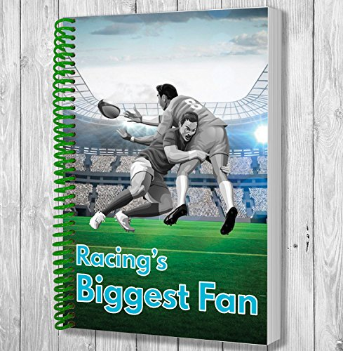 Racing's Biggest Fan A5 Rugby Notebook / Notepad / Drawing Pad -