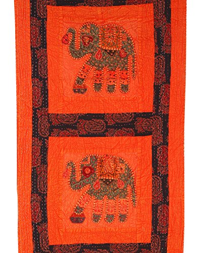 RAJRANG Decoración del hogar Decoración para la pared Patchwork elefante bordado Trabajo tapiz