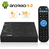 Android TV Box, Android 9.0 TV BOX 4 GB RAM 32 GB ROM H6 Quad core corex-A53 Supporto 3D 6K Ultra HD H.265 WiFi 2.4 GHz Ethernet HDMI Smart TV BOX