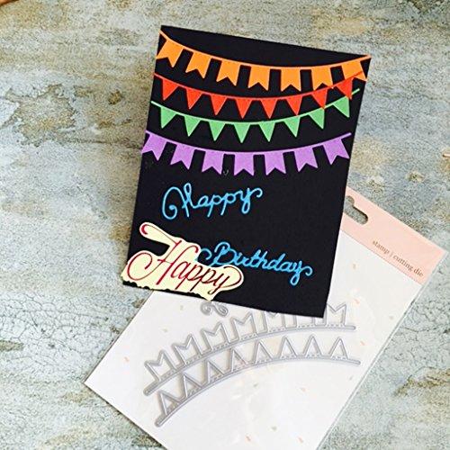 Moonbrid Flagge Cutting Dies, Metall Stanzmaschine Stanzschablone Stanzformen Schablonen DIY Scrapbooking Handcraft Fotoalbum Papier Karten,Weihnachten Valentinstag Thanksgiving Geschenke