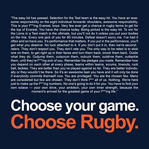 Trainspotting Choose Rugby Men's Hooded Sweatshirt Navy blue