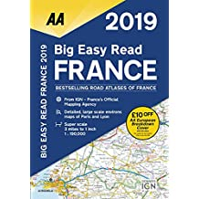 Big Easy Read France 2019 SP (AA Road Atlas France)