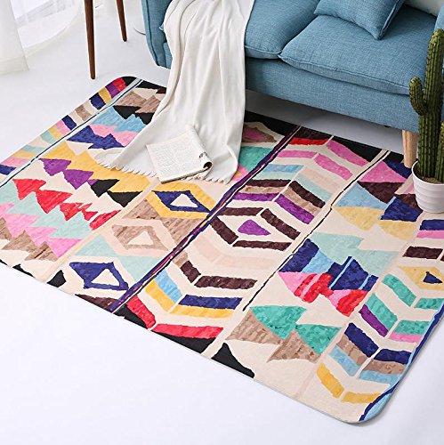Meilunmeihuan@ esotici doganale etnici tappeti per soggiorno di moda tappeti morbidi per la camera da letto divano tavolino piano rug studio mat tappeto al posto letto,3,120x180cm