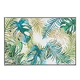 Cuadro en lienzo de hojas verde étnico para decoración de 92 x 62 cm Sol Naciente - Lola Home