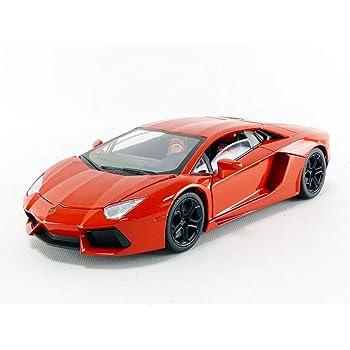 Lamborghini 1 18 Aventador Lp700 4 Diecast Model Car Orange Black