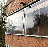 Tenda Antipioggia in PVC Crystal Trasparente. LarghezzaxAltezza (200x300)