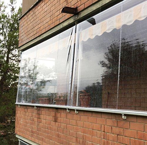 Tenda Antipioggia in PVC Crystal Trasparente. (300x300)