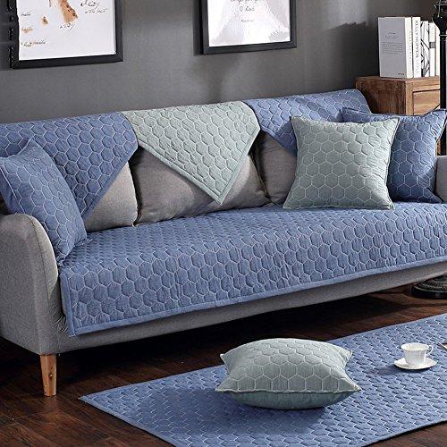 Farbe Sofa Slipcovers, Plüsch multi-sofa Deckel wasserdicht Rutschfest Verdicken couch sofa Kissen Dekoration Möbel protector Schnitt-B 70 x 210 cm (28 x 83 Zoll)