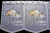 Scheibengardine Kaffee Höhe 45cm | Breite der Gardine frei wählbar in 30cm Schritten | Gardine | Panneaux