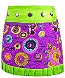 SUNSA Kinder Rock Minirock Wickelrock Wenderock Sommerrock Kinderrock aus Baumwolle, Zwei optisch verschiedene Röcke, Größe ist variabel verstellbar durch Druckknöpfe