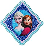 alles-meine.de GmbH Bügelbild -  Disney Frozen - die Eiskönigin / Prinzessin ELSA & Anna  - 7,5 cm * 7,8 cm - Aufnäher Applikation - Gestickter Flicken - völlig unverfroren Arendelle - Olaf / Mädchen